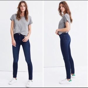 "Madewell•10"" High Rise Skinny Jeans 28"